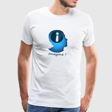 Fantasi, kreativitet, motivation, entusiasm - Premium-T-shirt herr
