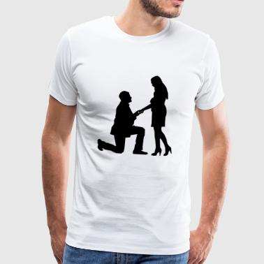 proposal of marriage - Men's Premium T-Shirt
