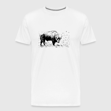 Bison - contrast - Men's Premium T-Shirt