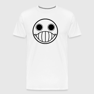 Crazy Cringe Smiley (Black) - Men's Premium T-Shirt