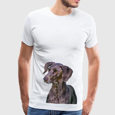 Weimaraner Dog Portrait - Men's Premium T-Shirt