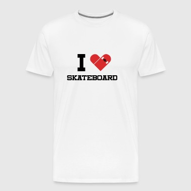 I love skateboarding. - Men's Premium T-Shirt