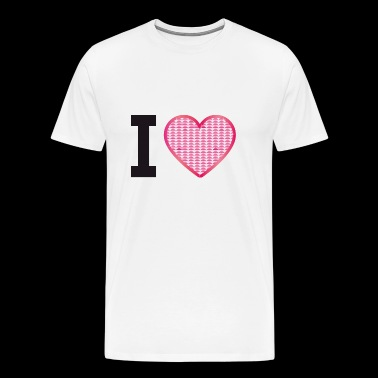 I love, I love, heart, rhinestone pattern without text - Men's Premium T-Shirt