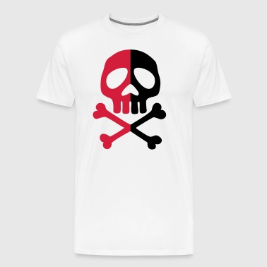 Skull Anarchy Pirate Party Shapes Tekening - Mannen Premium T-shirt