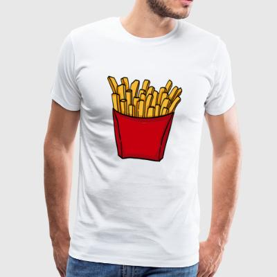 French fries fast food french fries love food - Men's Premium T-Shirt