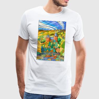 Castell Coch Reflections - T-shirt Premium Homme