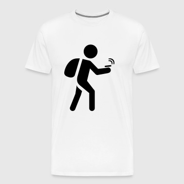 Geocacher pictogram - T-shirt Premium Homme