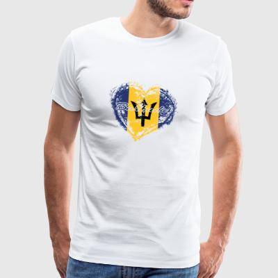 Hjemland ROOTS GIFT LOVE Barbados - Premium T-skjorte for menn