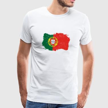 Roots roots flag homeland country PORTUGAL portuges - Men's Premium T-Shirt