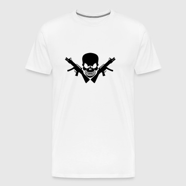 Assault Rifle Gun Skull - Premium T-skjorte for menn