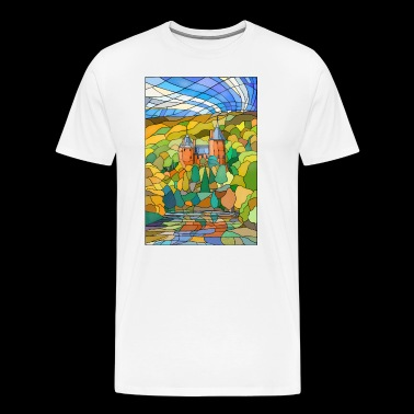 Castell Coch Reflections - Herre premium T-shirt