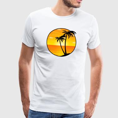 Palms Sea Holiday beach 03 Allround Designs - T-shirt Premium Homme