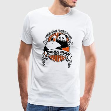 Fat panda with beer - Men's Premium T-Shirt