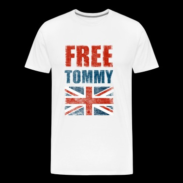 Gratuit Tommy Robinson Free Speech UK - T-shirt Premium Homme