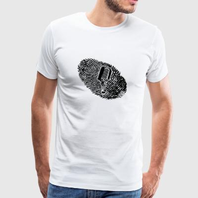fingerprint dns dna gift MICROPHONE MICROPHONE M - Men's Premium T-Shirt