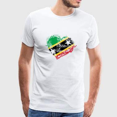 HOME ROOTS COUNTRY GIFT LOVE Saint Kitts and Nevis - Men's Premium T-Shirt