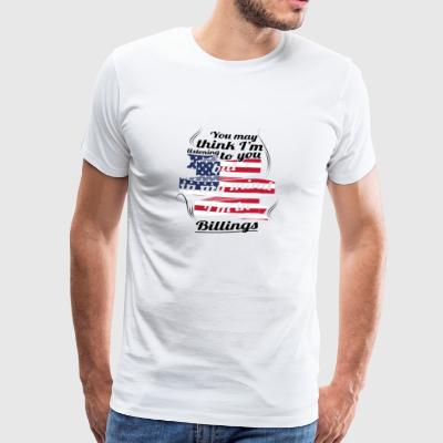 THERAPY HOLIDAY AMERICA USA TRAVEL Billings - Men's Premium T-Shirt