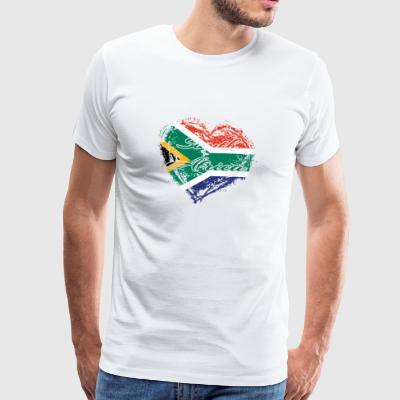 HOME ROOTS COUNTRY GIFT LOVE South africa - Männer Premium T-Shirt