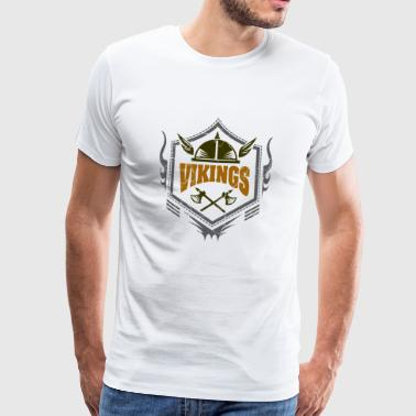 Vikings - Viking Ax - Symbol - Gift - Men's Premium T-Shirt