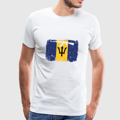 homeland fight ak 47 home roots Barbados png - Men's Premium T-Shirt