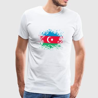 home country roots roots love Azerbaijan png - Men's Premium T-Shirt