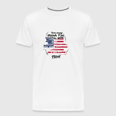 THERAPY HOLIDAY AMERICA USA TRAVEL Flint - Men's Premium T-Shirt