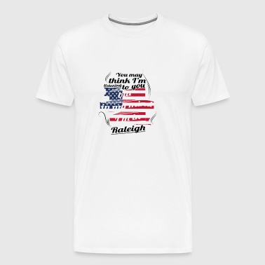THERAPIE HOLIDAY Reizen Amerika USA Raleigh - Mannen Premium T-shirt