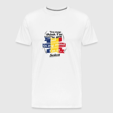 HOLIDAYS Romania ROOTS TRAVEL IN IN ROMANIA Solca - Men's Premium T-Shirt