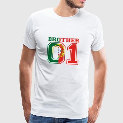 Brother 01 kung Portugal - Premium-T-shirt herr