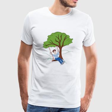 Child on swing - Men's Premium T-Shirt