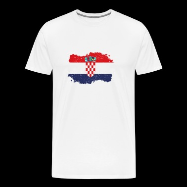 Roots Roots Flag Homeland Country Croatia png - Men's Premium T-Shirt