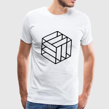 Cuboid Abstract - Men's Premium T-Shirt