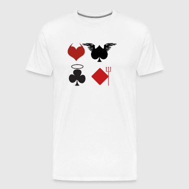 Card deck devil and angel - Men's Premium T-Shirt