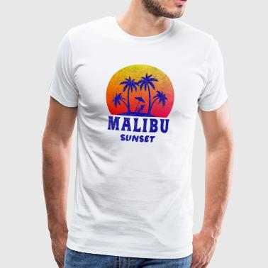 Malibu Sunset / California / Regalo / Retro - Camiseta premium hombre