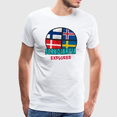 Scandinavie Explorer / Scandinavie / Cadeau - T-shirt Premium Homme