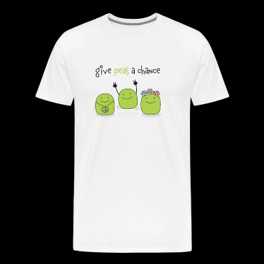 Give peas a chance! - Men's Premium T-Shirt
