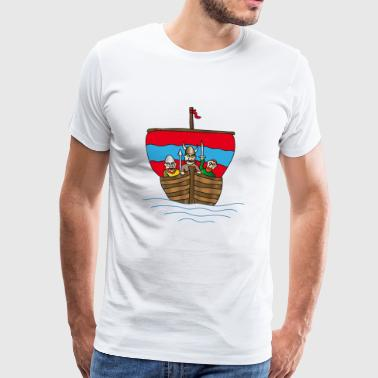 The Wiking ship | Boat | sailing ship - Men's Premium T-Shirt