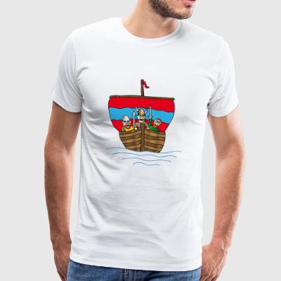 Vikings | Viking Ship | boat | segelfartyg - Premium-T-shirt herr