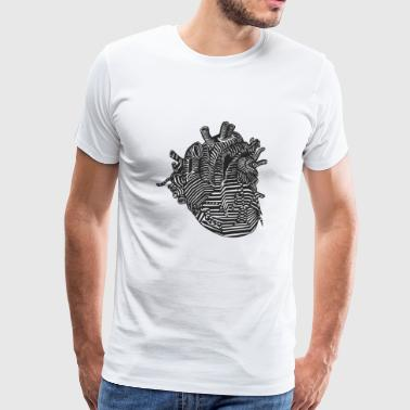 Heart organ | Design heart shirt - Men's Premium T-Shirt