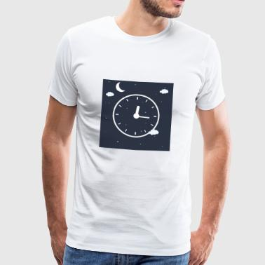 Clock with Sky Background! - Men's Premium T-Shirt
