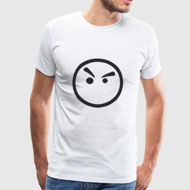 Smiley angry - Men's Premium T-Shirt