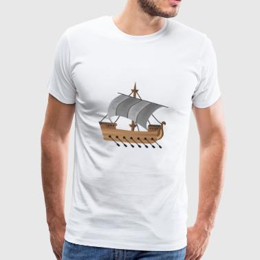 paddle boat sail boat rowing boat sailboat56 - Men's Premium T-Shirt