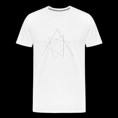 Triangles Art Geometry Minimal Gift - Men's Premium T-Shirt