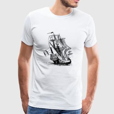 boat sailing boat uboot sailboat sailing yacht - Men's Premium T-Shirt
