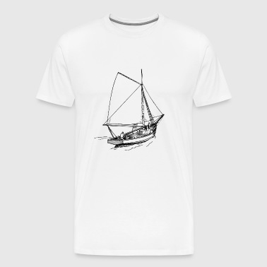 paddle boat sail boat rowing boat sailboat55 - Men's Premium T-Shirt