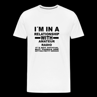 relationship with AMATEUR RADIO - Men's Premium T-Shirt
