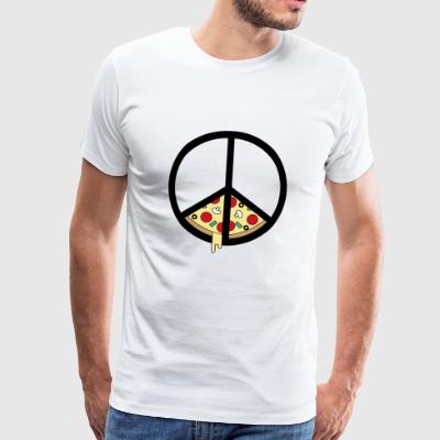 Pizza and Peace - Mannen Premium T-shirt