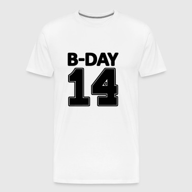 14 number fourteen / birthday number number jersey - Men's Premium T-Shirt