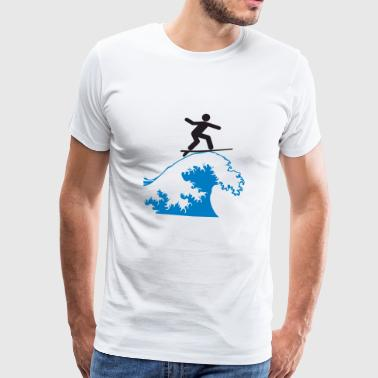 waveriding - Mannen Premium T-shirt