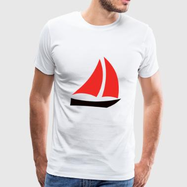 paddle boat sail boat rowing boat sailboat25 - Men's Premium T-Shirt